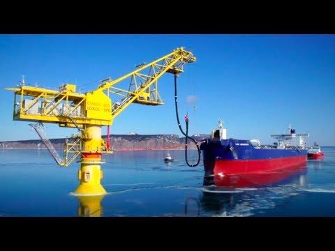Швартовка shuttle tanker в заливе Чихачёва порт Де Кастри, Россия
