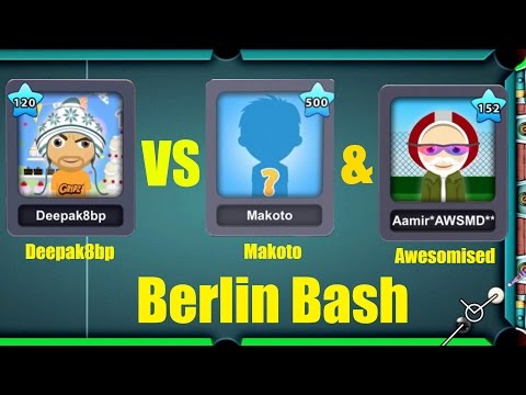 8 Ball Pool 150M Deepak8bp VS Makoto ( Legend ) & Amir Awesomised + New Berlin Ring w/shangri la