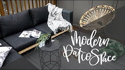 Our Cozy & Modern Patio Space: Choosing Outdoor Furniture