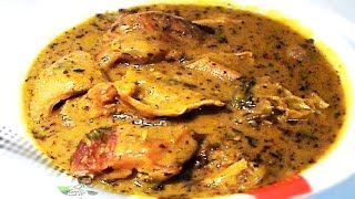 Bitter leaf Soup (Ofe Onugbu) with dried Bitter leaves | Nigerian Food Recipes
