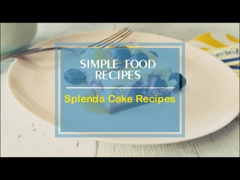Splenda Cake Recipes