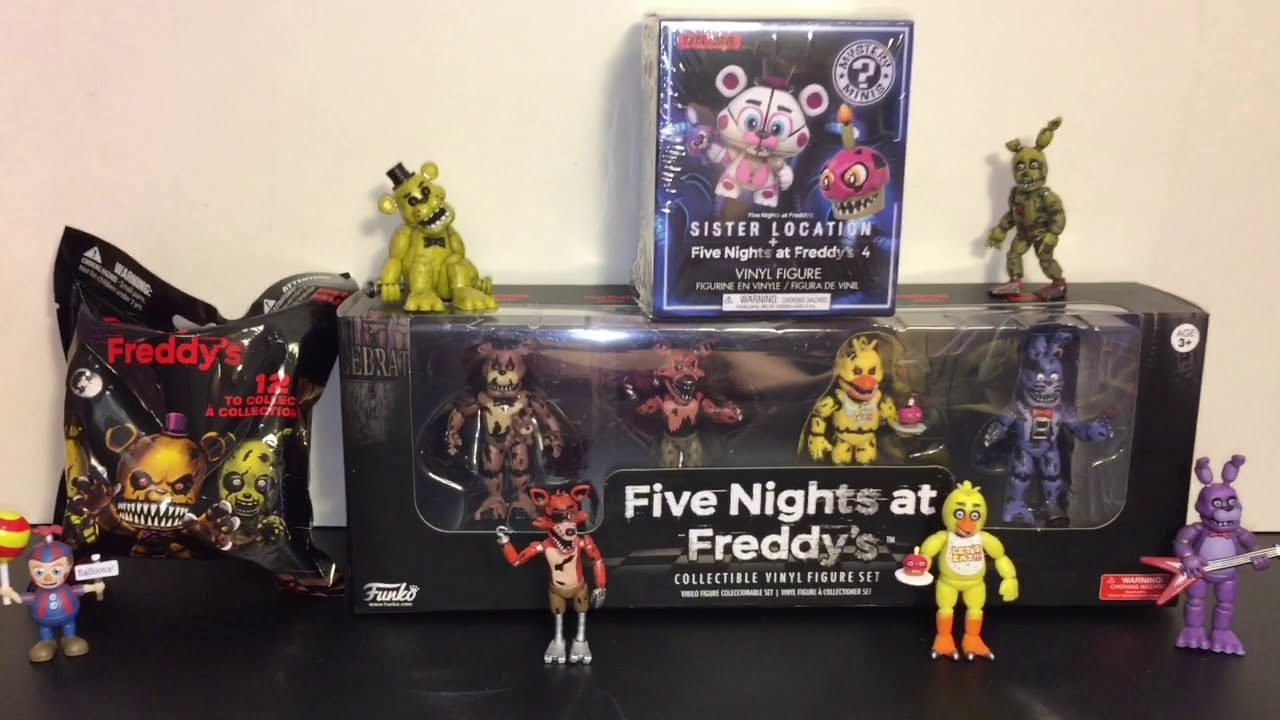 Five Nights At Freddy S Nightmare Vinyl Figures Set