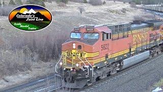 BNSF Train Meet at Palmer Lake - Mar 2014