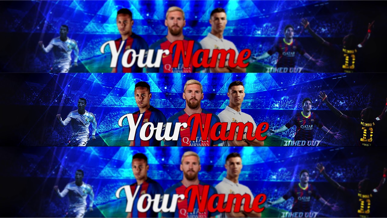 Football Themed Youtube Banner Psd Youtube