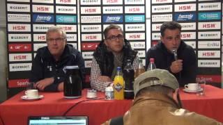 Pressekonferenz SC Pfullendorf SV Waldhof Mannheim