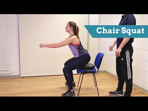 How to do the CHAIR SQUAT: technique and common mistakes