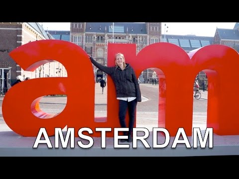 1 Day in Amsterdam: Crazy Florescent Museum & Banksy Art