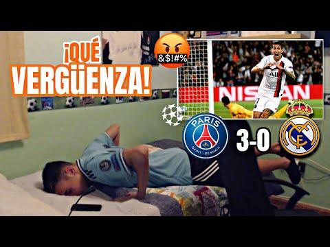 REACCIONES DE UN HINCHA | PSG 3-0 Real Madrid ¡ESTO ES UNA P*** VERGUENZA!🤬