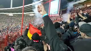 Etoile Rouge de Belgrade - PSG : lancé de fumigène contre le parcage parisien