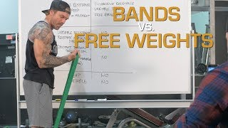 Comparing Bands vs Free Weights For Muscle Building