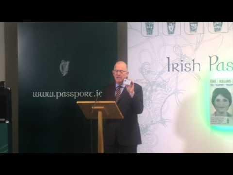 Charlie Flanagan launches new Irish Passport card