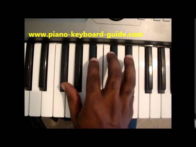 How To Play E Flat Minor Chord Eb Min Ebm On Piano Keyboard
