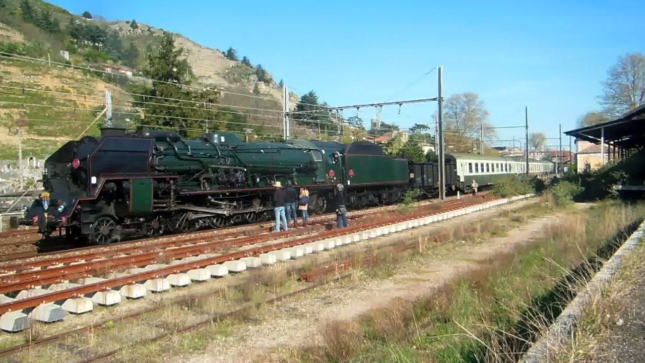 La Locomotive A Vapeur 241p17 En Rhone Alpes Youtube