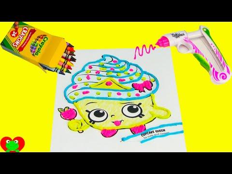 Shopkins Cupcake Queen with Doh Vinci