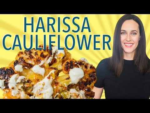Harissa Cauliflower with Leeks, Potatoes, & Yogurt Sheet Pan Meal (Also, Harissa Chicken)