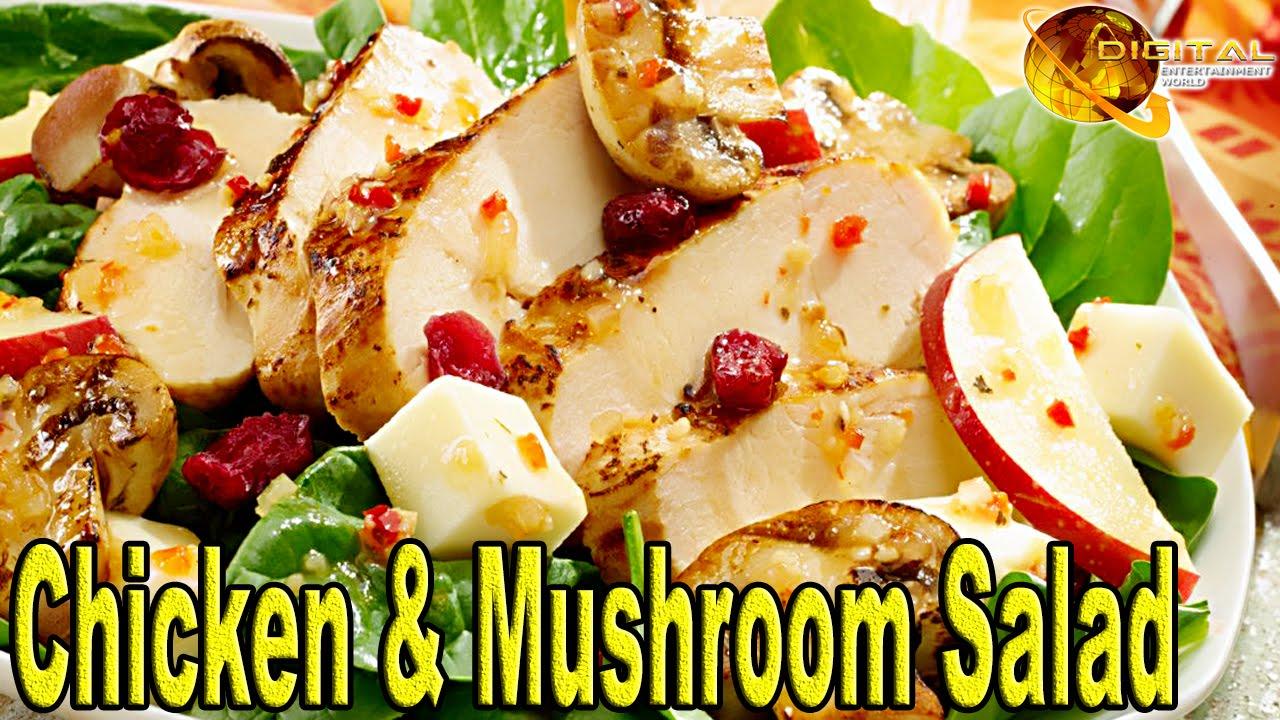 Chicken mushroom salad cooking recipes desi continental chicken mushroom salad cooking recipes desi continental recipes hd video forumfinder Images