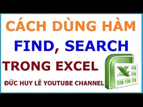Cách dùng và phân biệt hàm Find, Search – Hàm dò tìm chuỗi ký tự trong Excel