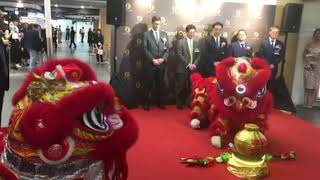 Lion Dance at Duty Zero by cdf Grand Opening at Hong Kong International Airport