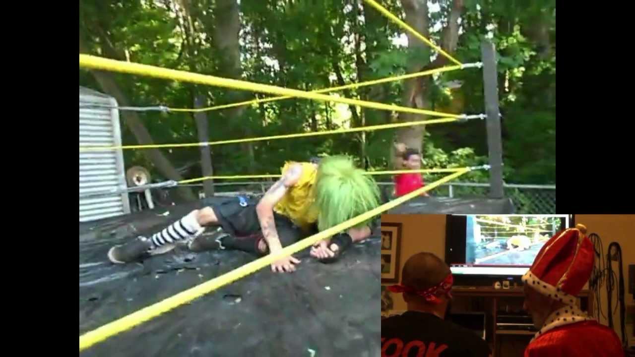 backyard wrestling theater ep 1 asylum klown vs biohazard