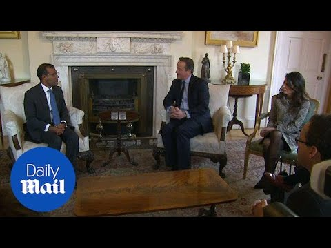 Amal Clooney and ex-president of Maldives meet David Cameron - Daily Mail