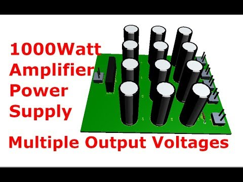 1000W Power Amplifier Power Supply without IC