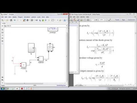 PV cell modelling in minimum time (two methods)