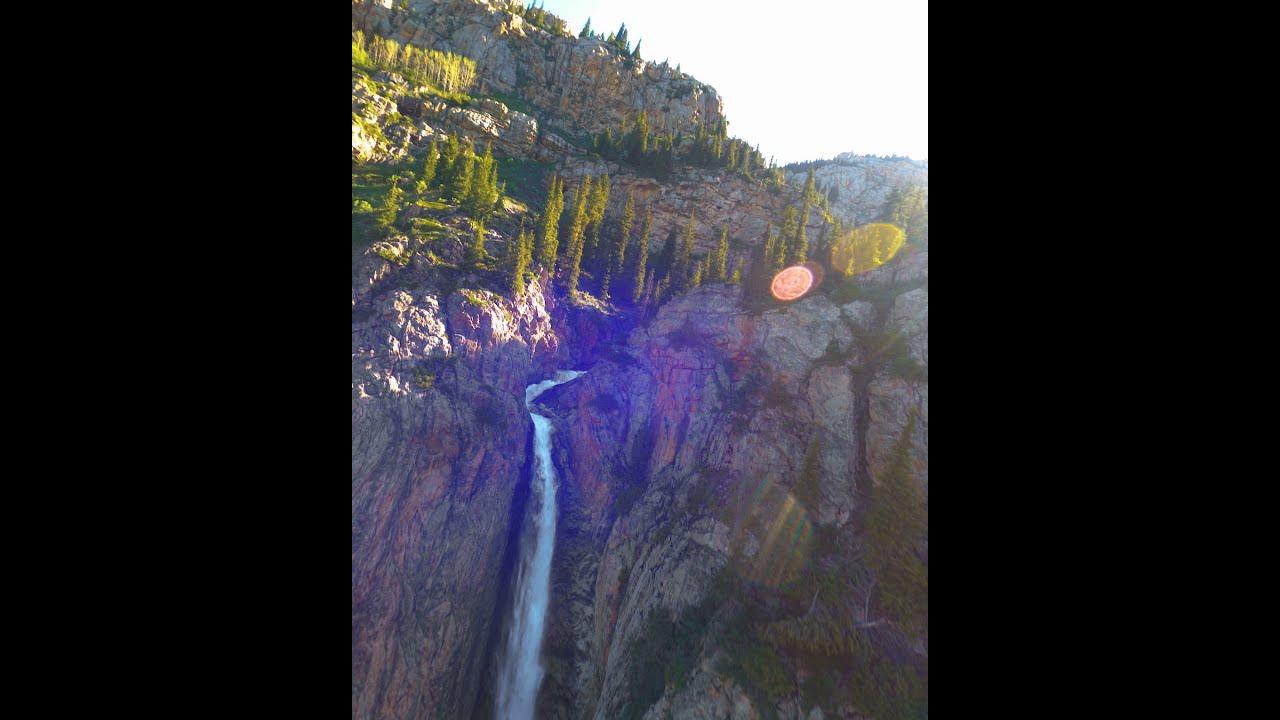 Водопад Бурхан-Булак, Джунгарский Алатау, FPV полет картинки