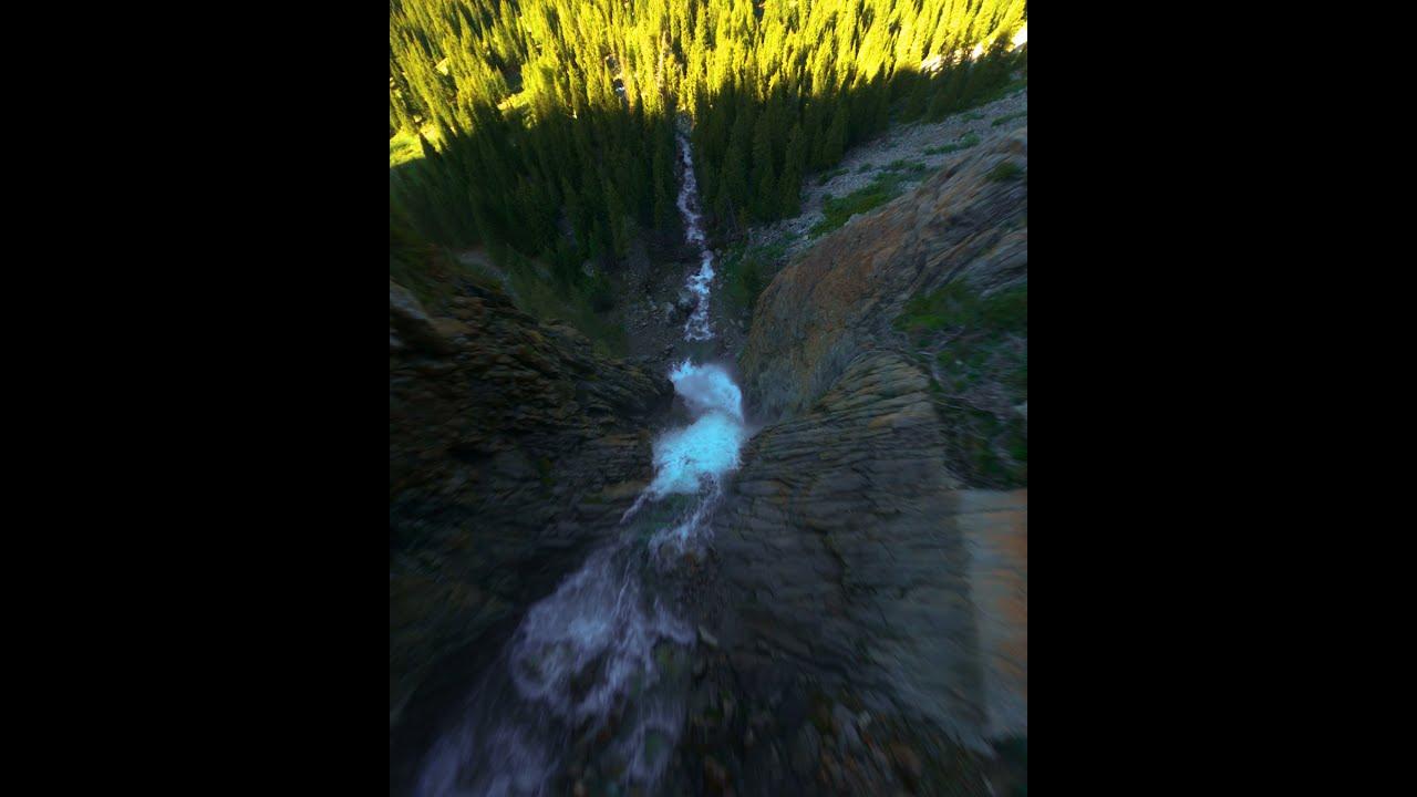 Водопад Бурхан-Булак, Джунгарский Алатау, FPV полет фото