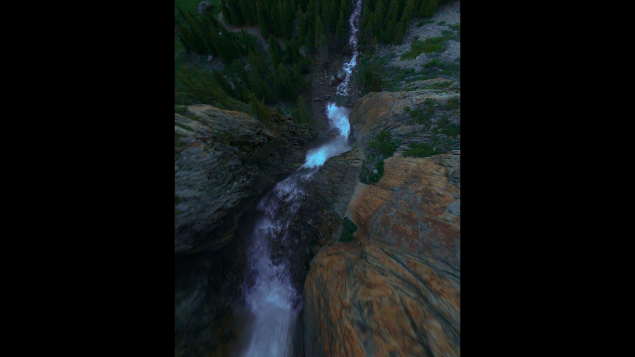 Водопад Бурхан-Булак, Джунгарский Алатау, FPV полет фотки