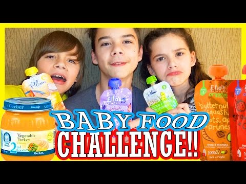 BABY FOOD CHALLENGE!!  |  KITTIESMAMA
