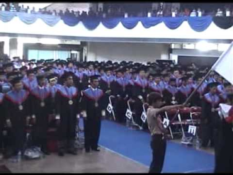 Student Swear at Graduation of Sepuluh Nopember Institute Of Technology