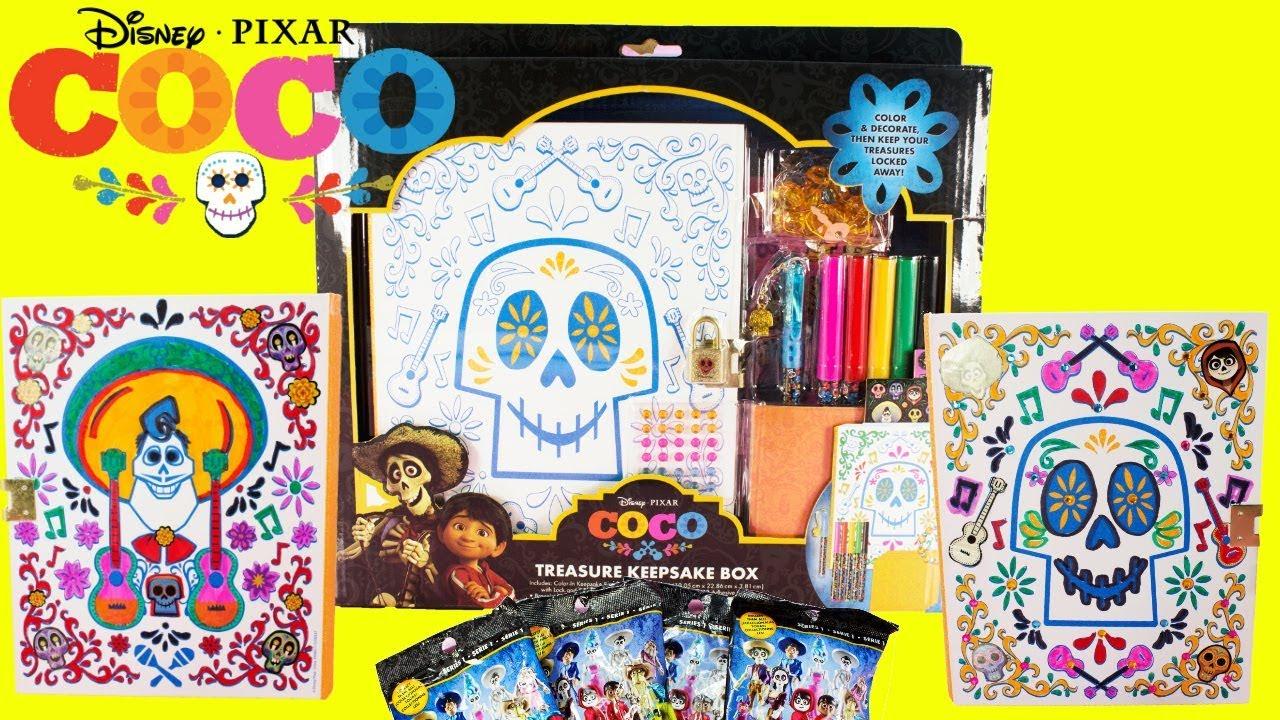 Disney Pixar Coco Treasure Keepsake Box Diy Coco Toy