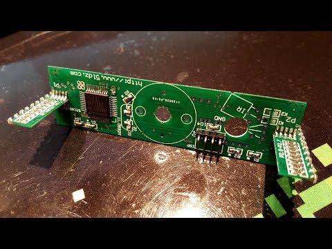 Building the rotating cross led dot matrix DIY kit - part 1, main PCB + leds