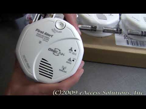 First Alert's One Link Voice Sounding Smoke and CO Alarm two pack explanation and un-boxing video