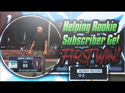 Nba2k17- Helping A Rookie Subscriber Win His 1st Game! BEST VIDEO EVER!!