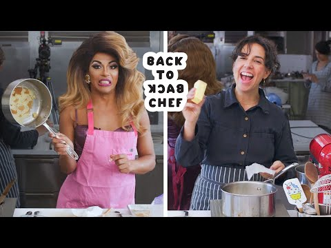 Shangela Tries to Keep Up with a Professional Chef | Back-to-Back Chef | Bon Apptit