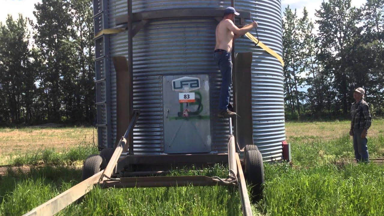Loading Steel Grain Bins pt 1