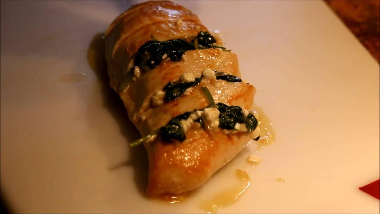 Pechugas de pollo con queso y espinacas al horno youtube - Pechugas de pollo al horno ...