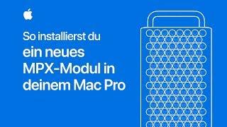 So installierst du ein neues MPX-Modul in deinem MacPro