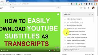 Download lagu [UPDATE] Easily Download YouTube Subtitles as Transcripts