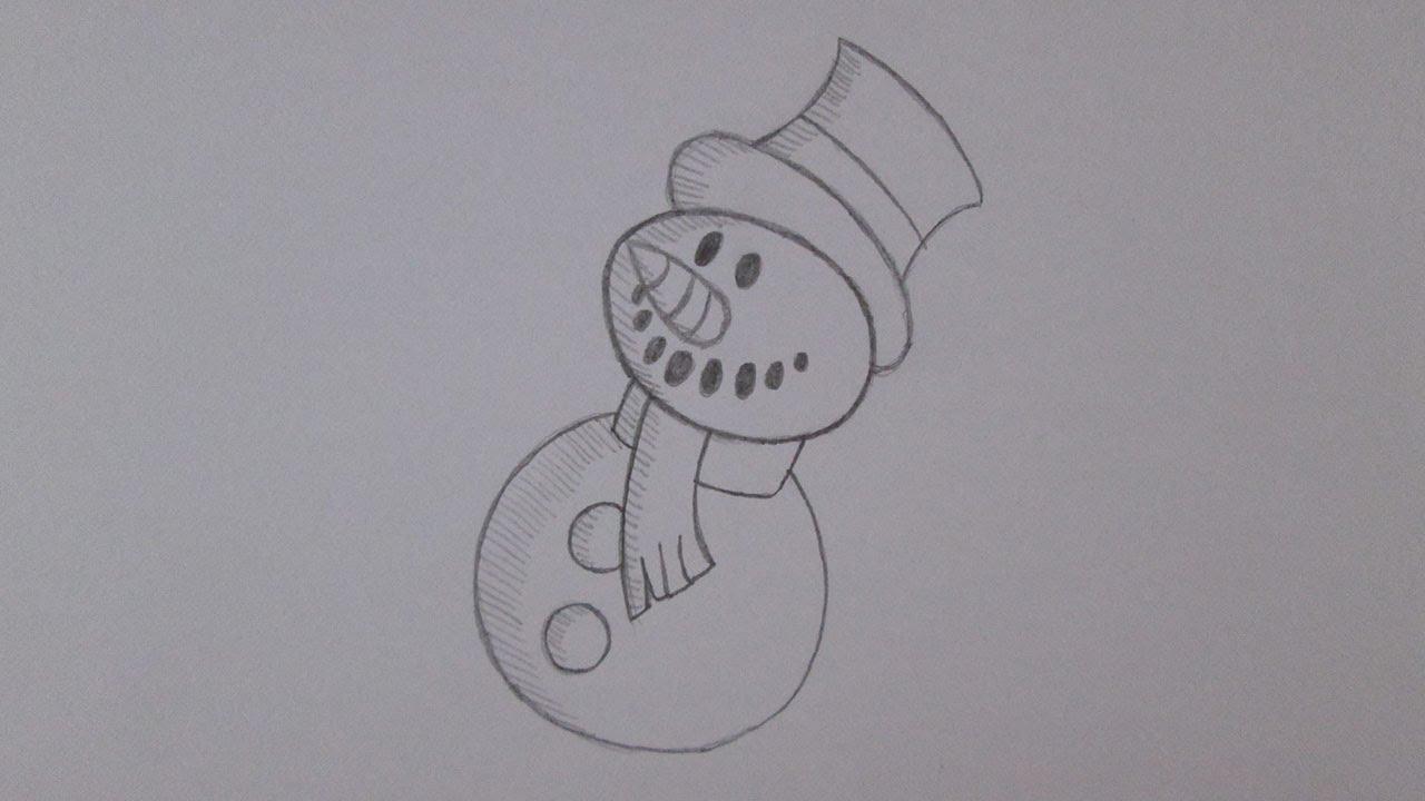 Como Desenhar Um Boneco De Neve De Natal Youtube