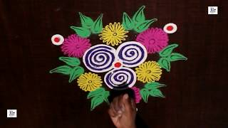 #NAVARATRI  #Kolam /  #rangoli Design without using Dots || #maitrin 2018
