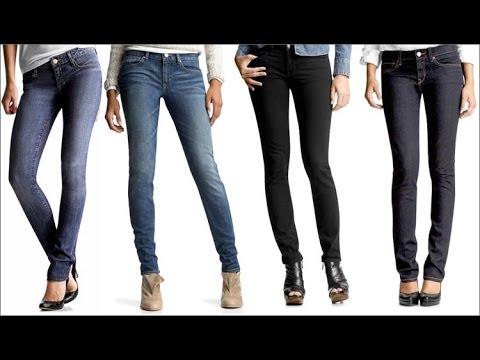 Синие джинсы клеш от колена Lilo - YouTube