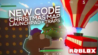 TRYING THE NEW CHRISTMAS MAP, LAUNCHPAD, & TRAPS in ISLAND ROYALE on ROBLOX (NEW CODE)