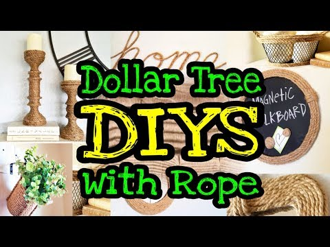 Dollar Tree DIY Farmhouse Home Decor / Dollar Tree Rope DIYs