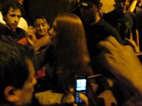 EPICA - Salida del Teatro Metropolitano (Medellín, Colombia) 29/11/2009