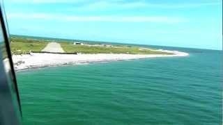 Anflug und Landung mit einer C42 auf Helgoland