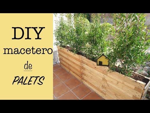 DIY MACETERO DE PALETS | RECICLAJE | DIVISOR JARDIN ECONOMICO