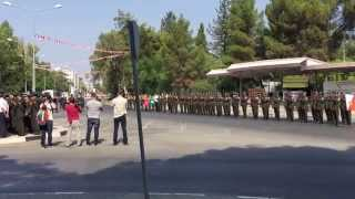 KKTC askeri tören mangası tümgeneralin komandoyu selamlaması