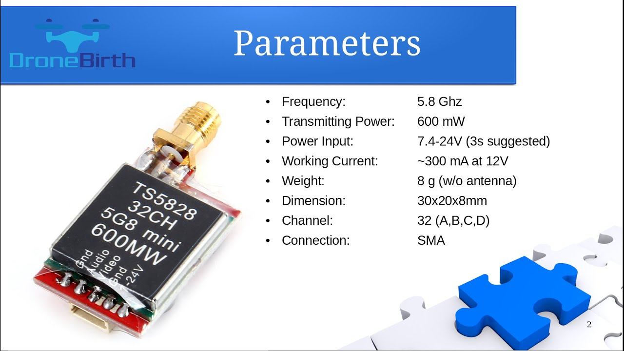 Ts5828 5 8ghz 600mw Video Transmitter  Vtx  Wiring And
